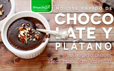 Mousse de chocolate y plátano