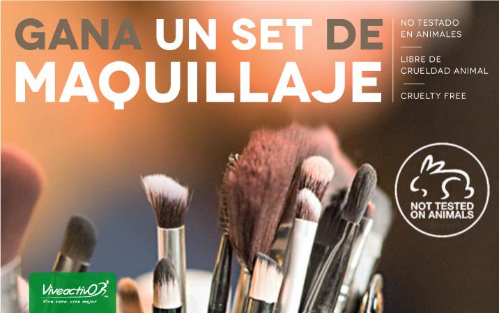 Concurso Viveactivo: Gana un set de maquillaje libre de crueldad animal